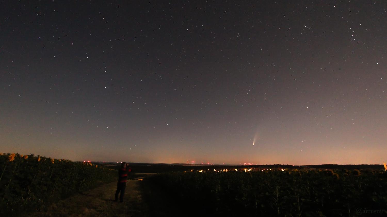 Komet C/2020 F3 (NEOWISE) über Mainfranken