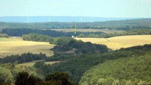 Blick von Eisingen auf die Hans-Haffner-Sternwarte bei Hettstadt