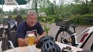 Artur Schmitt während Fahrradtour am 14. Juli 2020