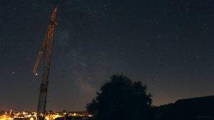 Saturn, Jupiter und die Milchstraße am 21. Juli 2020 um 23:42 Uhr über Eisingen