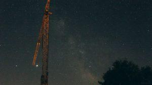 Saturn, Jupiter und die Milchstraße am 21. Juli 2020 um 23:43 Uhr über Eisingen