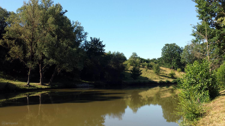 Fischweier bei Sommerhausen am 23. Juli 2020