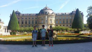 Hofgarten und Residenz in Würzburg am 30. Juli 2020