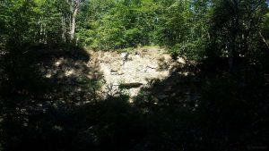 Naturdenkmal Werksandsteinbruch mit Pfadfindersee westlich von Höchberg am 31. Juli 2020