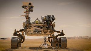 """NASA-Marsrover """"Perseverance"""" und Hubschrauberdrohne """"Igenuity"""""""