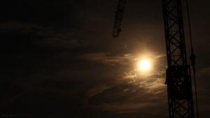Saturn, Jupiter und Mond am 1. August 2020 um 22:40 Uhr am Südhimmel von Eisingen