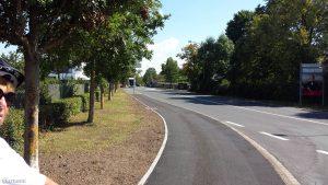 Hexenbruchweg Richtung Höchberger Straße in Würzburg am 2. September 2020
