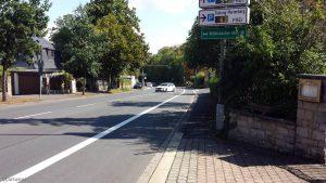 Höchberger Straße in Würzburg stadteinwärts am 2. September 2020