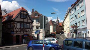 Zeller Straße in Würzburg stadtauswärts am 2. September 2020