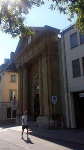 Spitäle Galerie in der Burkarderstraße in Würzburg am 2. September 2020