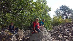 Klettern im Steinbruch am Panoramahöhenweg Kleinochsenfurt - Sommerhausen