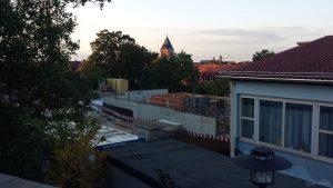 Baufortschritt an der Grundschule in Eisingen am 9. September 2020
