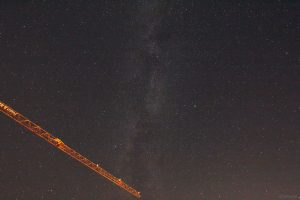 Sommerdreieck und Milchstraße am 15. September 2020 um 23:32 Uhr