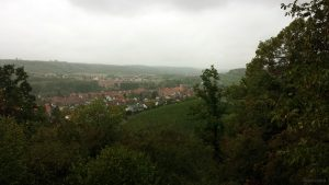 Blick über Sommerhausen Richtung Würzburg