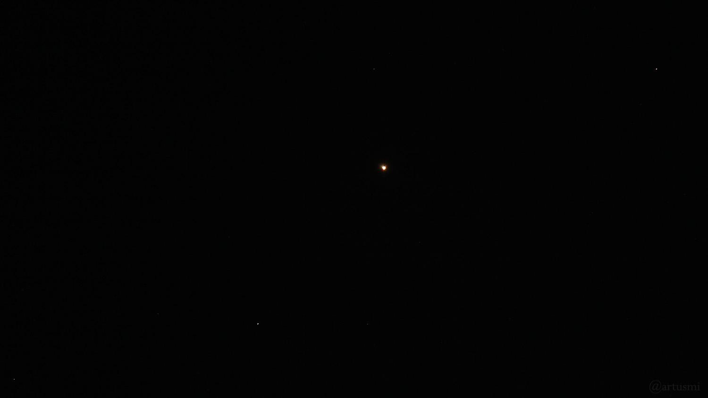 Mars am 1. Oktober 2020 im Sternbild Fische