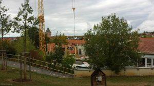 Baufortschritt Teilneubau des Schulhauses der Grundschule Eisingen-Waldbrunn in Eisingen am 7. Oktober 2020
