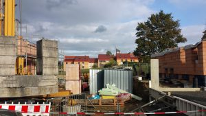 Neubaugebiet Guttenberger Straße und St. Josefs-Stift Eisingen am 7. Oktober 2020