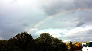 Regenbogen am 7. Oktober 2020