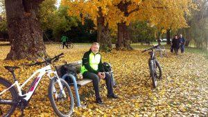 Artur Schmitt während einer Fahrradtour am 24. Oktober 2020 am südlichen Maindreieck