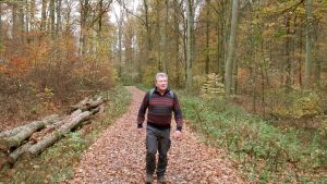 Artur Schmitt während einer Wanderung am 12. November 2020
