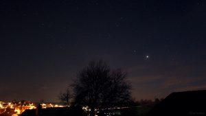 Saturn und Jupiter am 14. November 2020 am Südwesthimmel von Eisingen