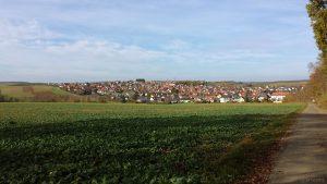 Hettstadt im Landkreis Würzburg am 15. November 2020