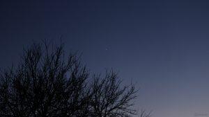 Saturn und Jupiter am 29. November 2020 am Südwesthimmel von Eisingen