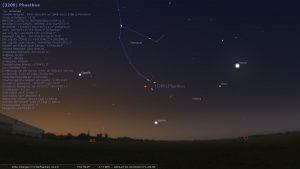 Asteroid (3200) Phaethon am 1. Juli 2024 am Morgenhimmel