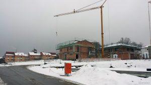 St. Josefs-Stift und Neubaugebiet Guttenberger Straße in Eisingen am 2. Dezember 2020
