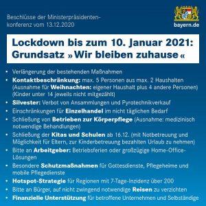 Beschlüsse der Ministerpräsidentenkonferenz vom 13. Dezember 2020