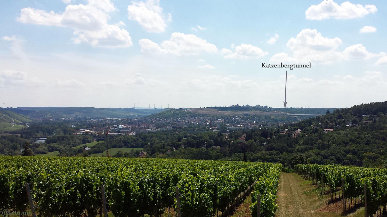Katzenbergtunnel am Würzburger Stadtteil Heuchelhof