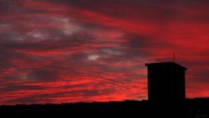 Abendrot am 11. Januar 2021 am Südwesthimmel von Eisingen