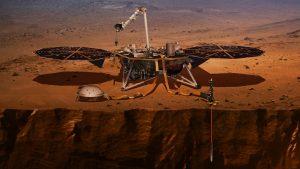 Die NASA-Sonde InSight auf der Marsoberfläche