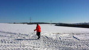 Schneewandern in Eisingen am 13. Februar 2021