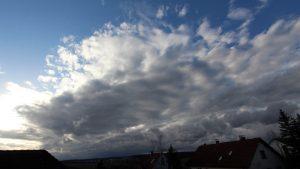 Sturmtief Klaus - Wetterbild aus Eisingen vom 11. März 2021