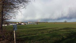 Wetterbild vom 12. März 2021 aus Hettstadt