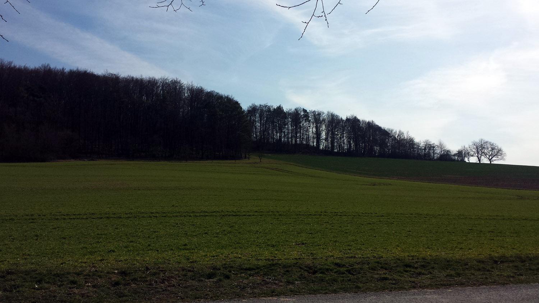 Wetterbild vom 25. März 2021 aus Uettingen im Lkr. Würzburg