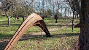 Skulpturenpark im Erbachshof in Eisingen am Palmsonntag, 28. März 2021