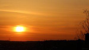 Sonnenuntergang am 8. April 2021