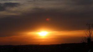 Sonnenuntergang am 9. April 2021