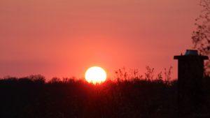 Sonnenuntergang am 20. April 2021