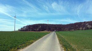 Zufahrt zum Ruhewald Greußenheim