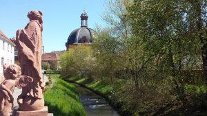 Aalbach in Holzkirchen im Landkreis Würzburg am 26. April 2021