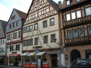 Fachwerkhäuser in der Hauptstraße in Ochsenfurt