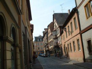 Fachwerkhäuser in der Brückenstraße in Ochsenfurt