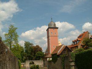 Stadtgraben und Klingentorturm in Ochsenfurt