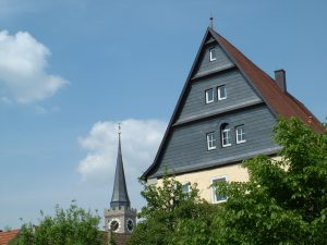 Turm der Stadtpfarrkirche St. Andreas in Ochsenfurt