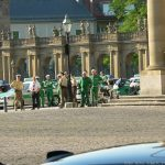 Einsatzkräfte der Polizei während des informellen Ministertreffens des Rats für Wettbewerbsfähigkeit in Würzburg