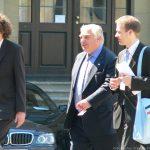 Peter Sutherland während des informellen Ministertreffens des Rats für Wettbewerbsfähigkeit in Würzburg
