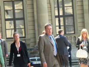Bundeswirtschaftsminister Michael Glos (CSU) während des informellen Ministertreffens des Rats für Wettbewerbsfähigkeit in Würzburg
